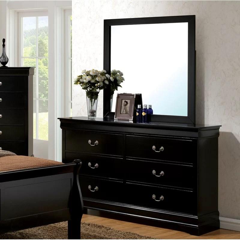 alvarez 6 drawer double dresser with mirror