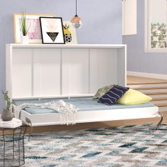Murphy Bed In Small Living Room Apartment Therapy Rugs Brayden Studio Clearwater Twin With Mattress Wayfair Ca