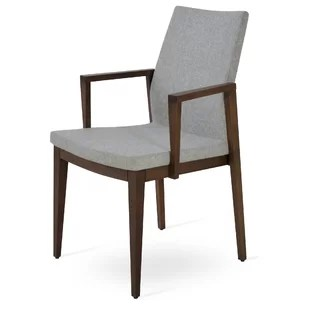 upholstered chairs with wooden arms silver office chair accent wayfair quickview