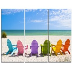 Canvas Beach Chair Swing Baby Age Wood And Chairs Wayfair Adirondack 3 Piece Graphic Art On Wrapped Set