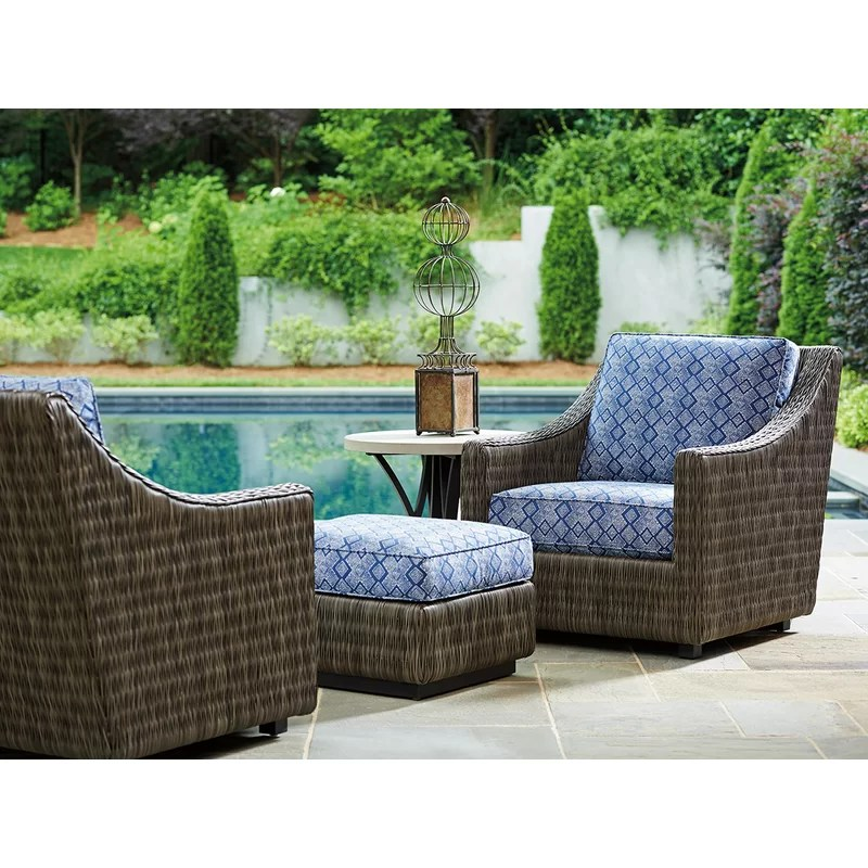 cypress point ocean terrace patio chair with cushion and ottoman