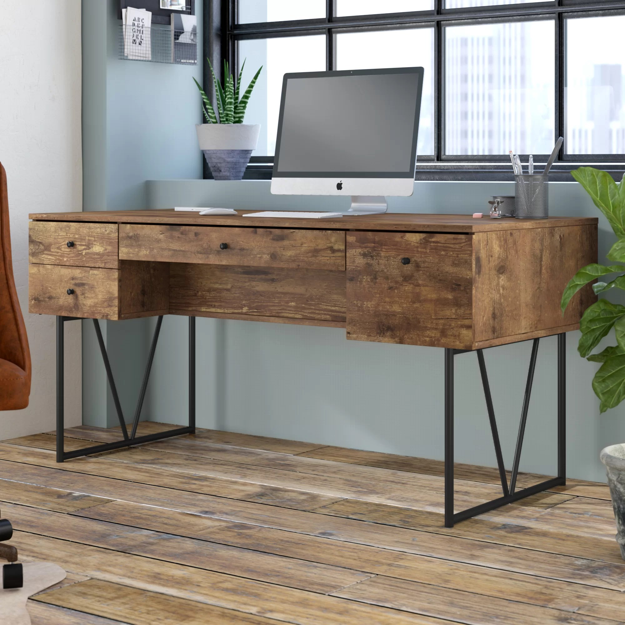 11 Amazing Wood Desks With Drawers For Artists In 2021