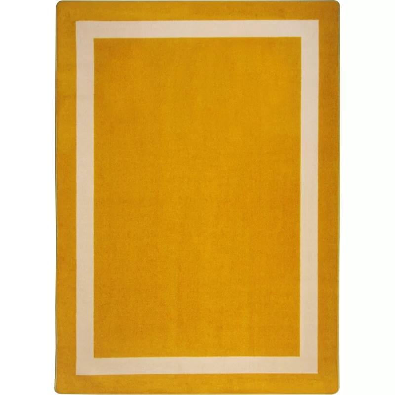 Orange Area Rug Rug Size: Rectangle 310 x 54