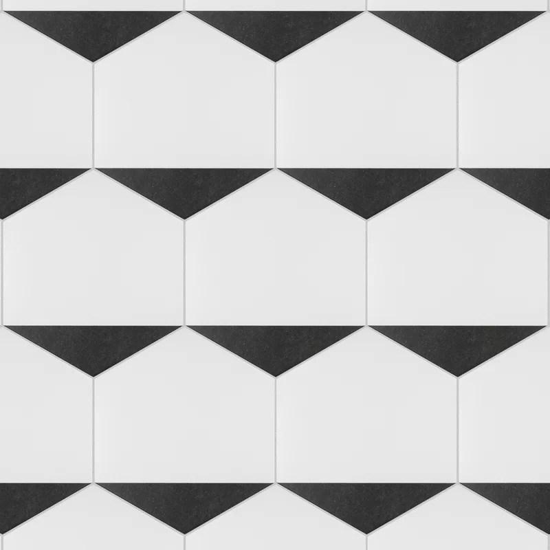 peak hex 9 x 10 porcelain wall floor tile