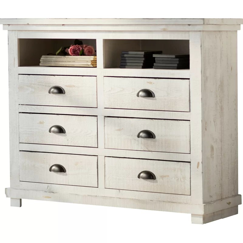 media chest for living room built in wall units ireland castagnier 6 drawer reviews birch lane