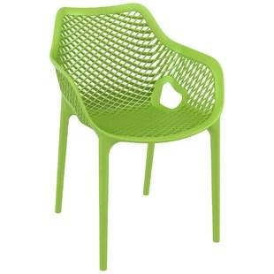 farrah stacking patio dining armchair set of 2