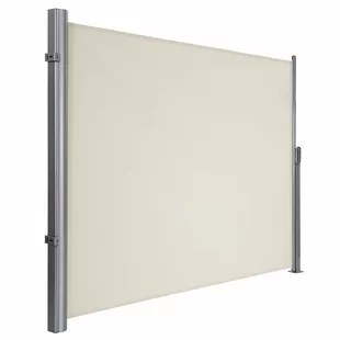 songmics manual retraction side awning in beige
