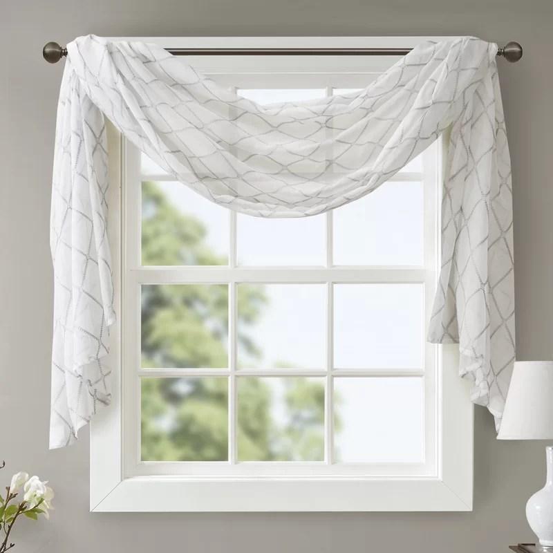 niord solid sheer window scarf