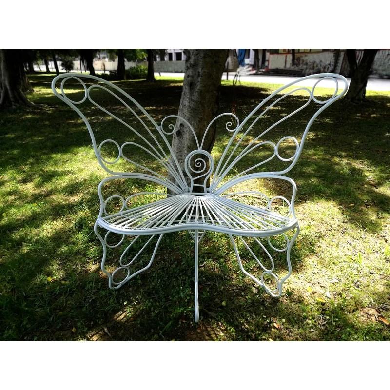 butterfly metal garden chair