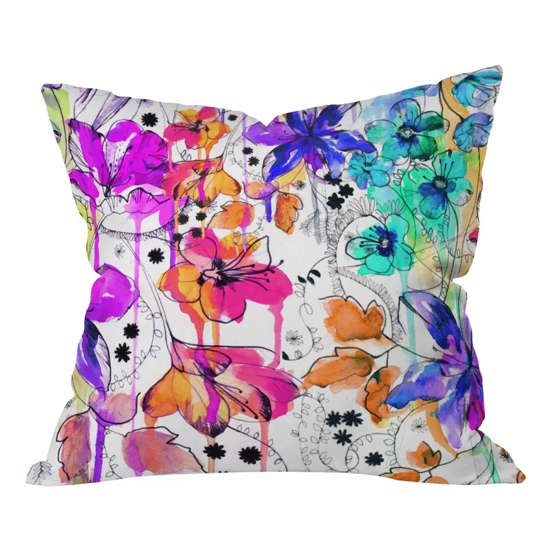 Nolting Lost In Botanica Outdoor Throw Pillow Size: Medium