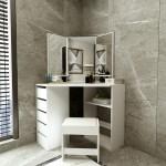 Latitude Run Faith Louise Bedroom Vanity Set With Stool And Mirror Wayfair