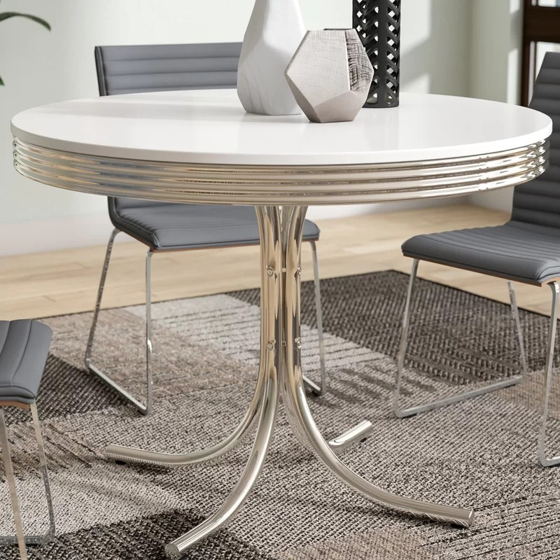 retro dining room table and chairs patio lounge orren ellis kewei reviews wayfair
