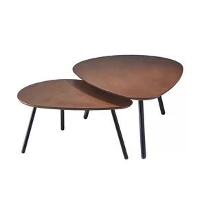 hana nesting 2 piece coffee table set