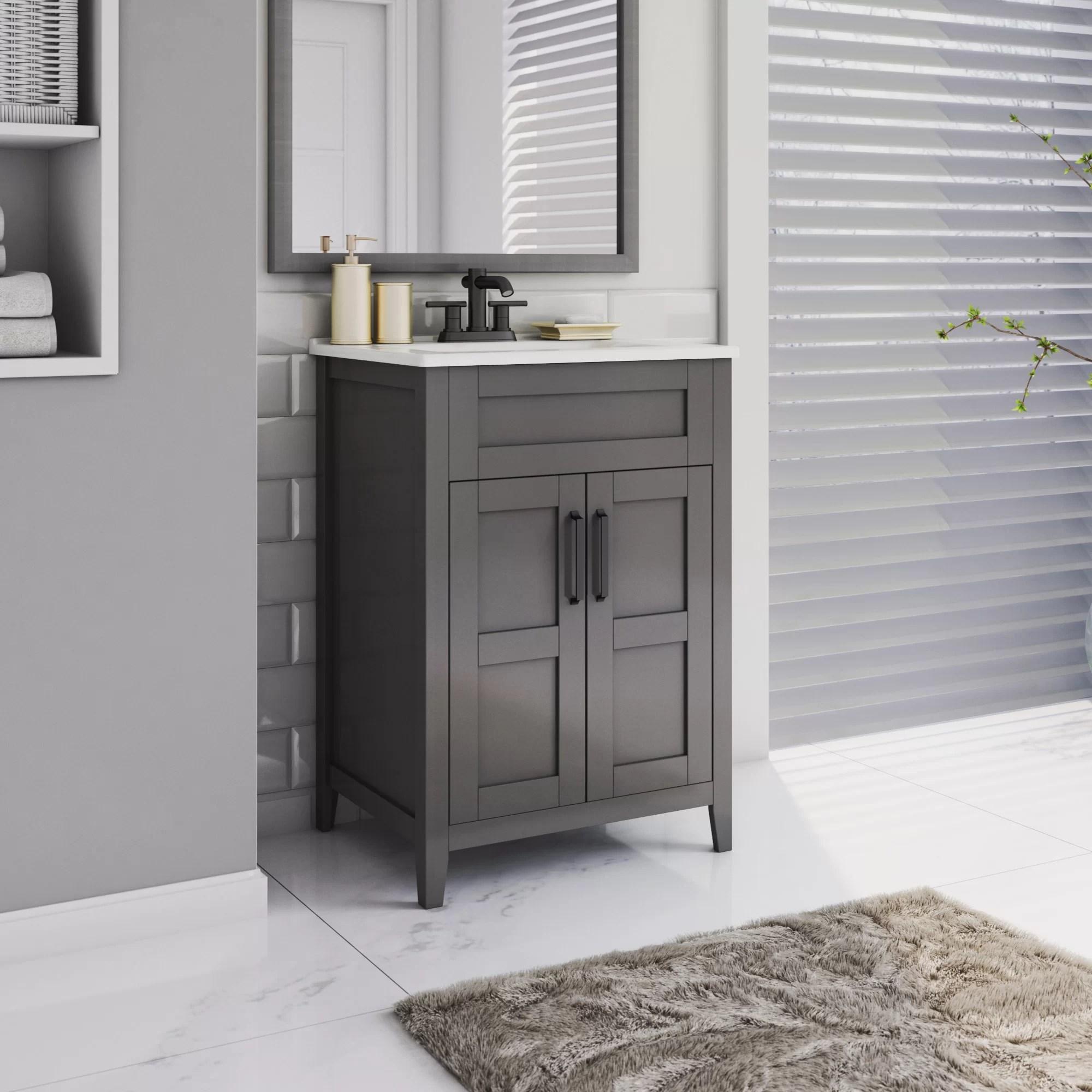 abubakkar freestanding 24 single bathroom vanity set