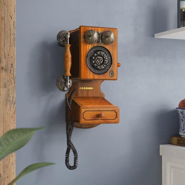 kitchen phone oak islands astoria grand country wall reviews wayfair ca