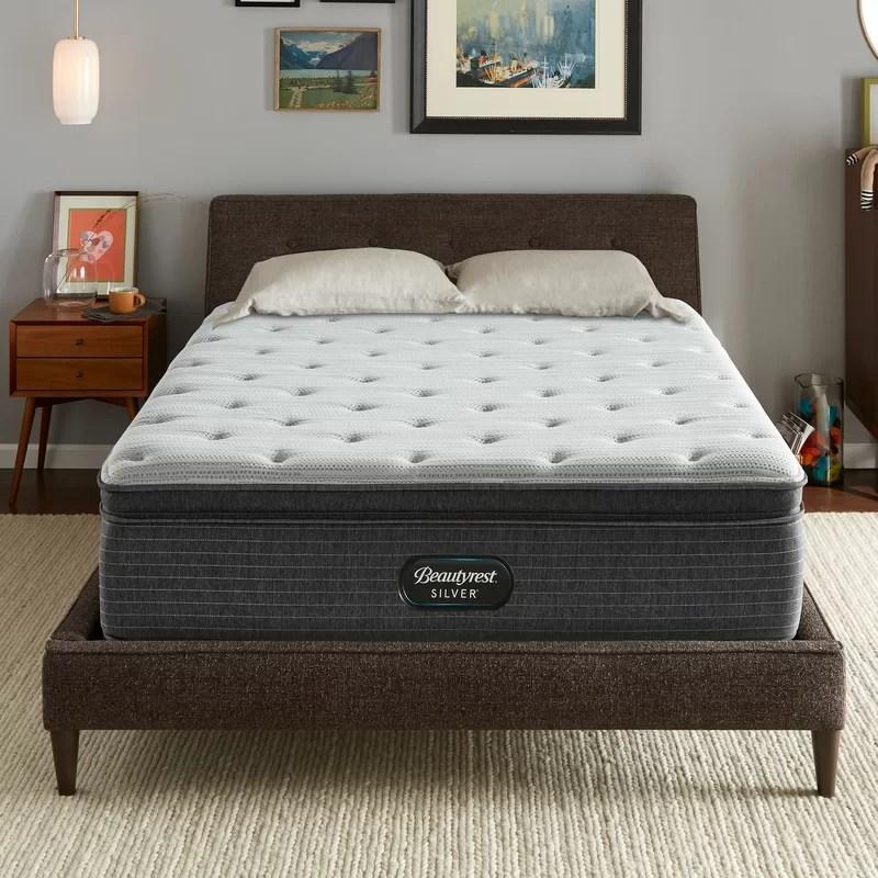 beautyrest silver 15 medium pillow top mattress and box spring set