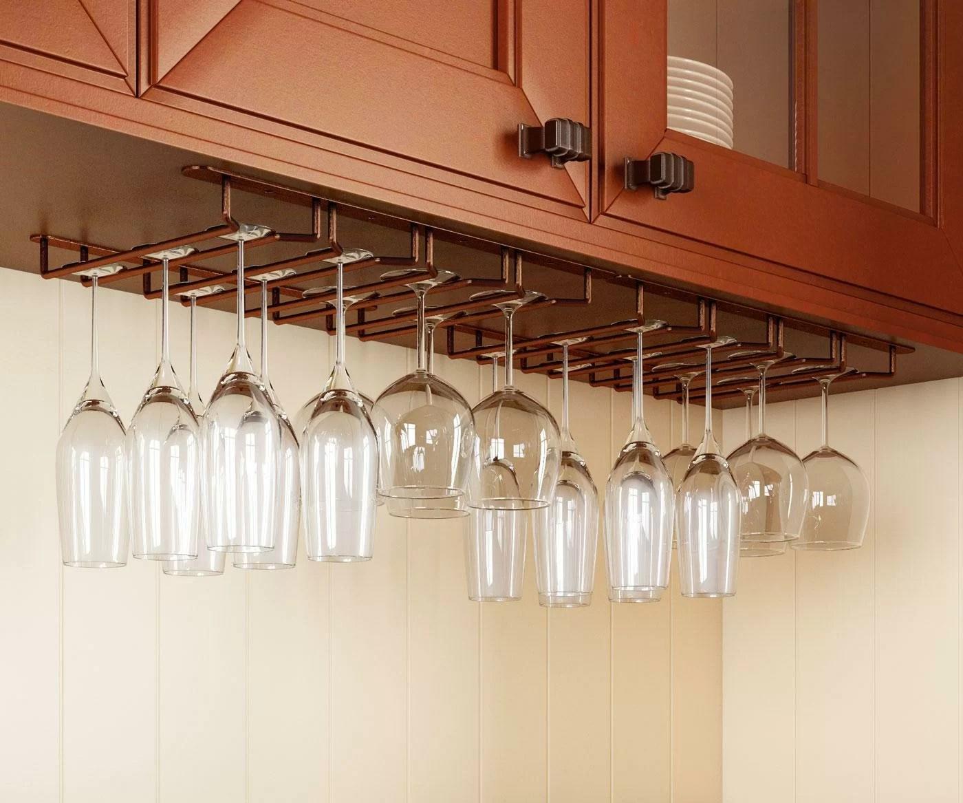 winn hanging wine glass rack