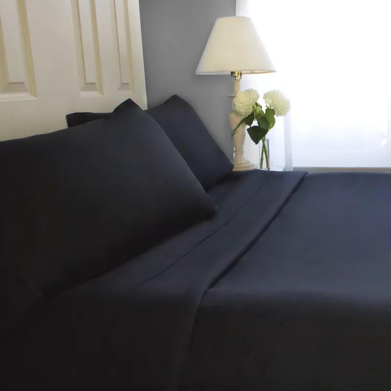 Sheet Set Size: Twin Color: Black