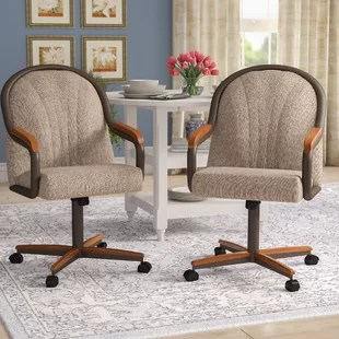 dining chair with armrest teak adirondack chairs arms wayfair moore upholstered