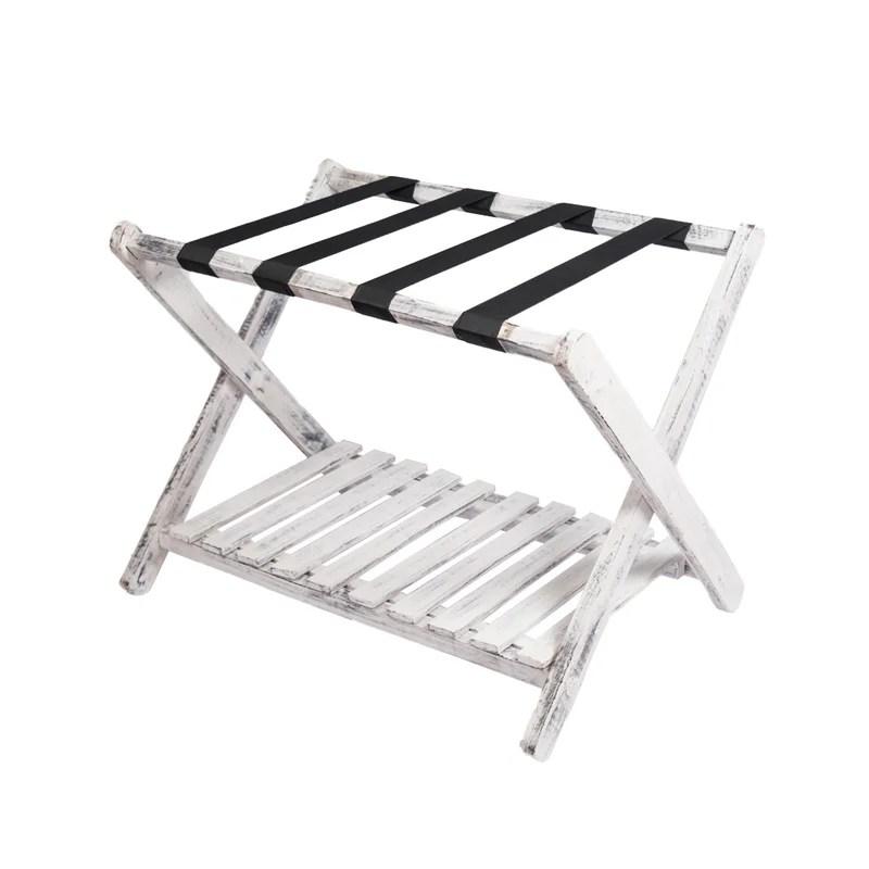 centrahoma foldable mango wood luggage rack