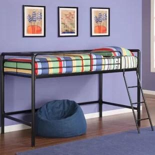 ahana junior twin low loft bed