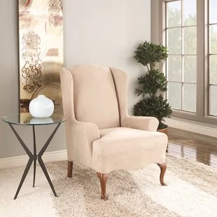wingback chair cover revolving used wing slipcovers you ll love wayfair quickview