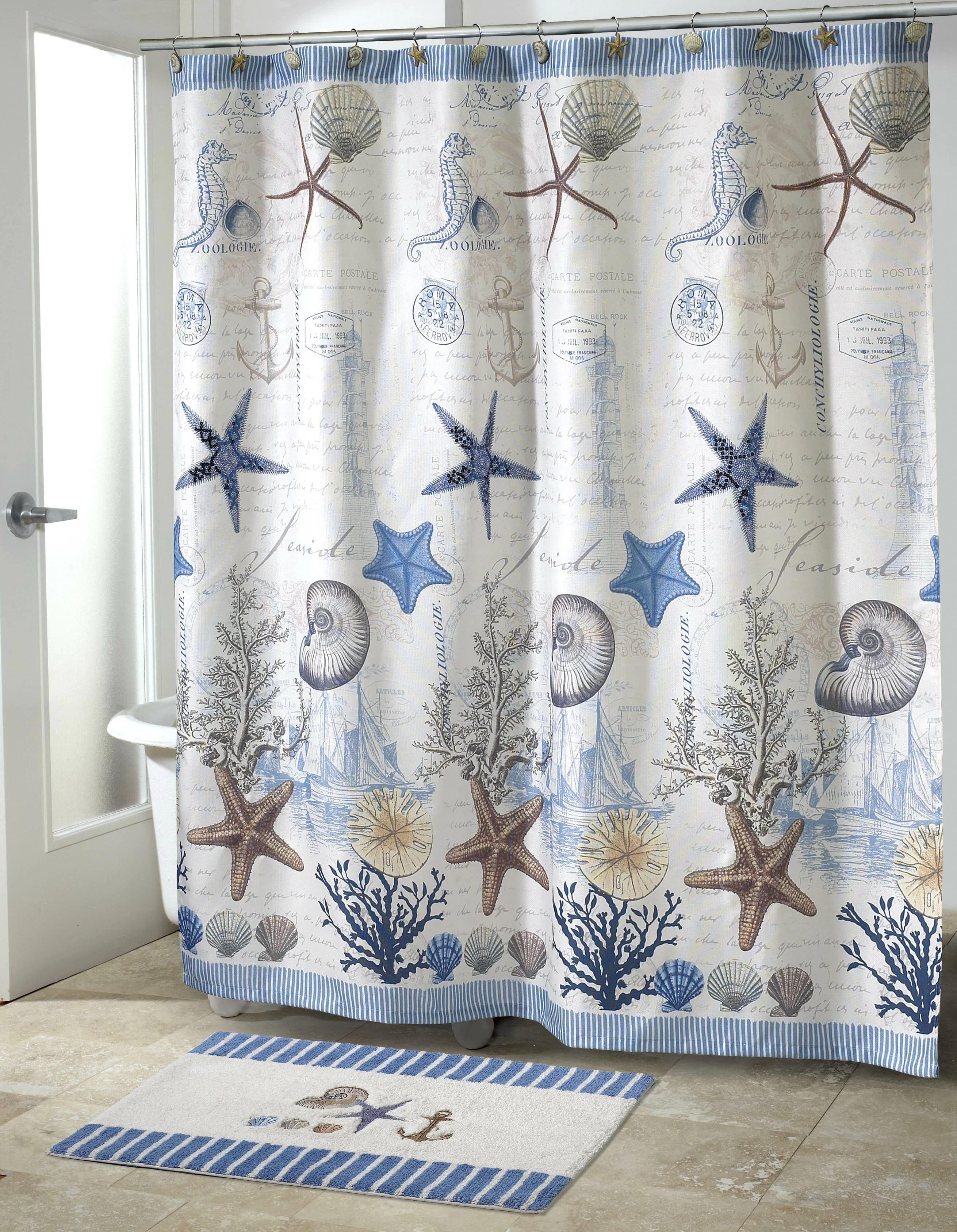 antigua single shower curtain hooks
