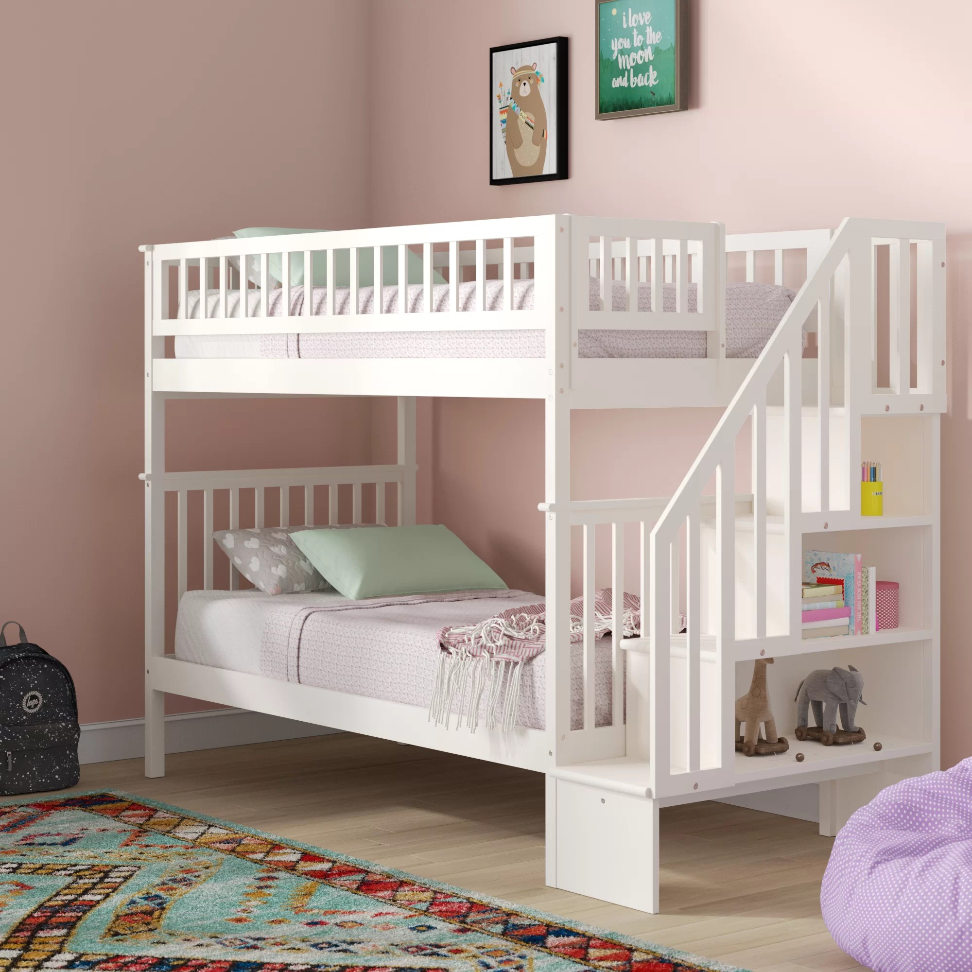 Bunk With Stairs Kids Beds You Ll Love In 2020 Wayfair