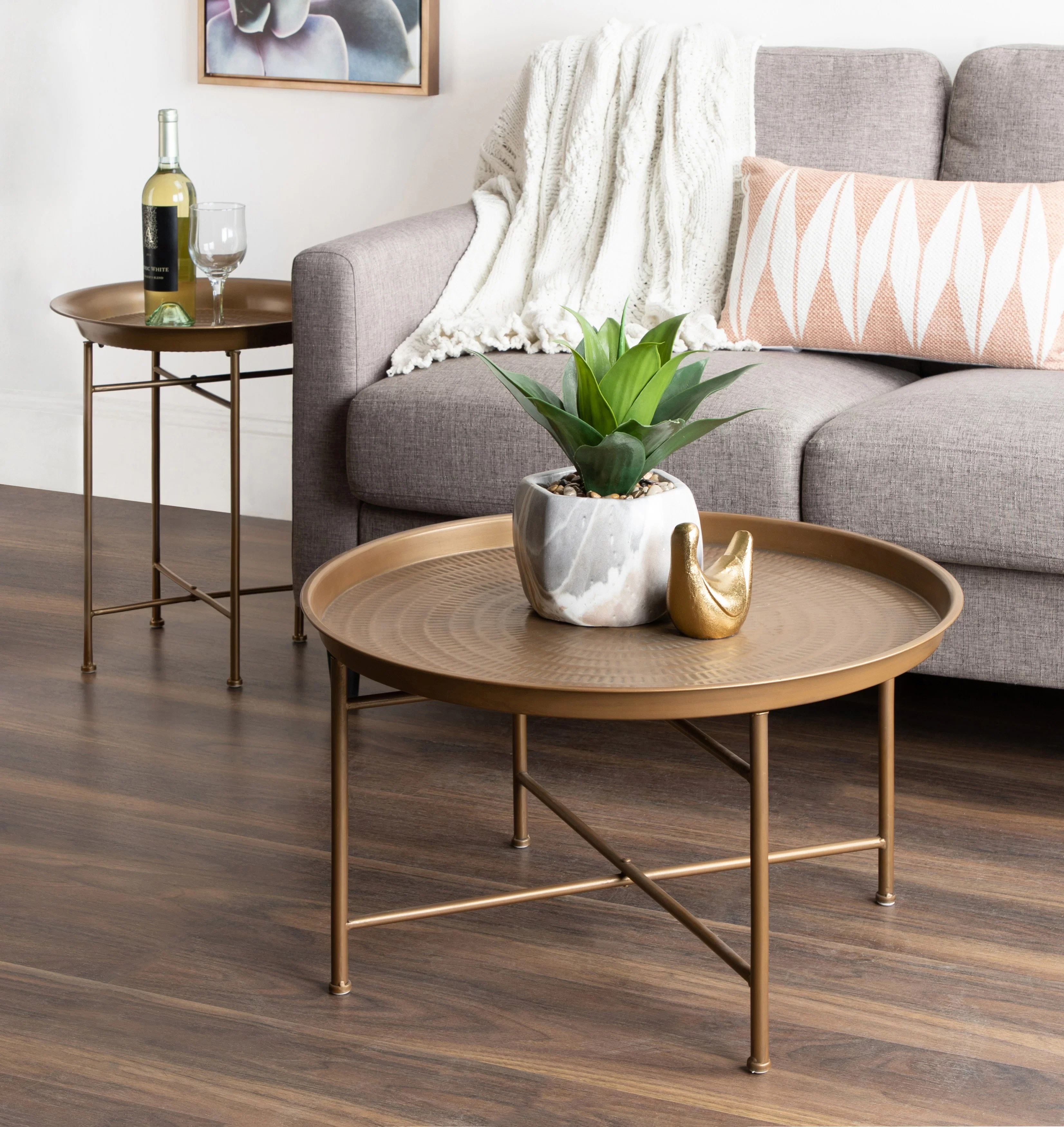 stamper coffee table with storage