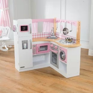 childrens play kitchen colorful cabinets sets you ll love wayfair co uk grand gourmet corner set