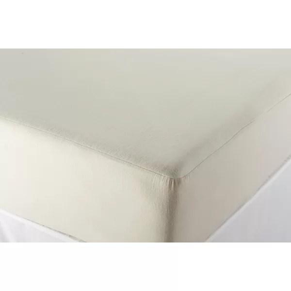 Coyuchi Bedding Essentials Organic Cotton Mattress Protector Reviews Wayfair