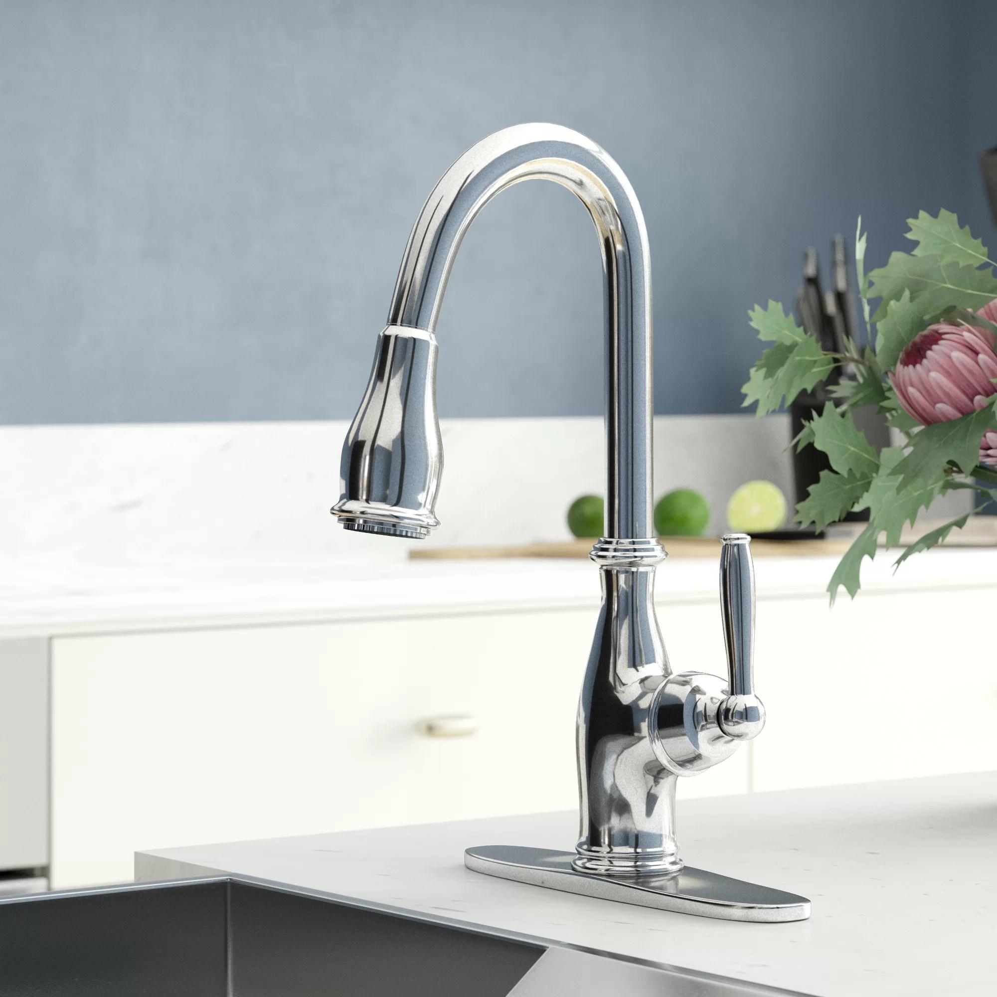 gooseneck high arc moen kitchen faucets