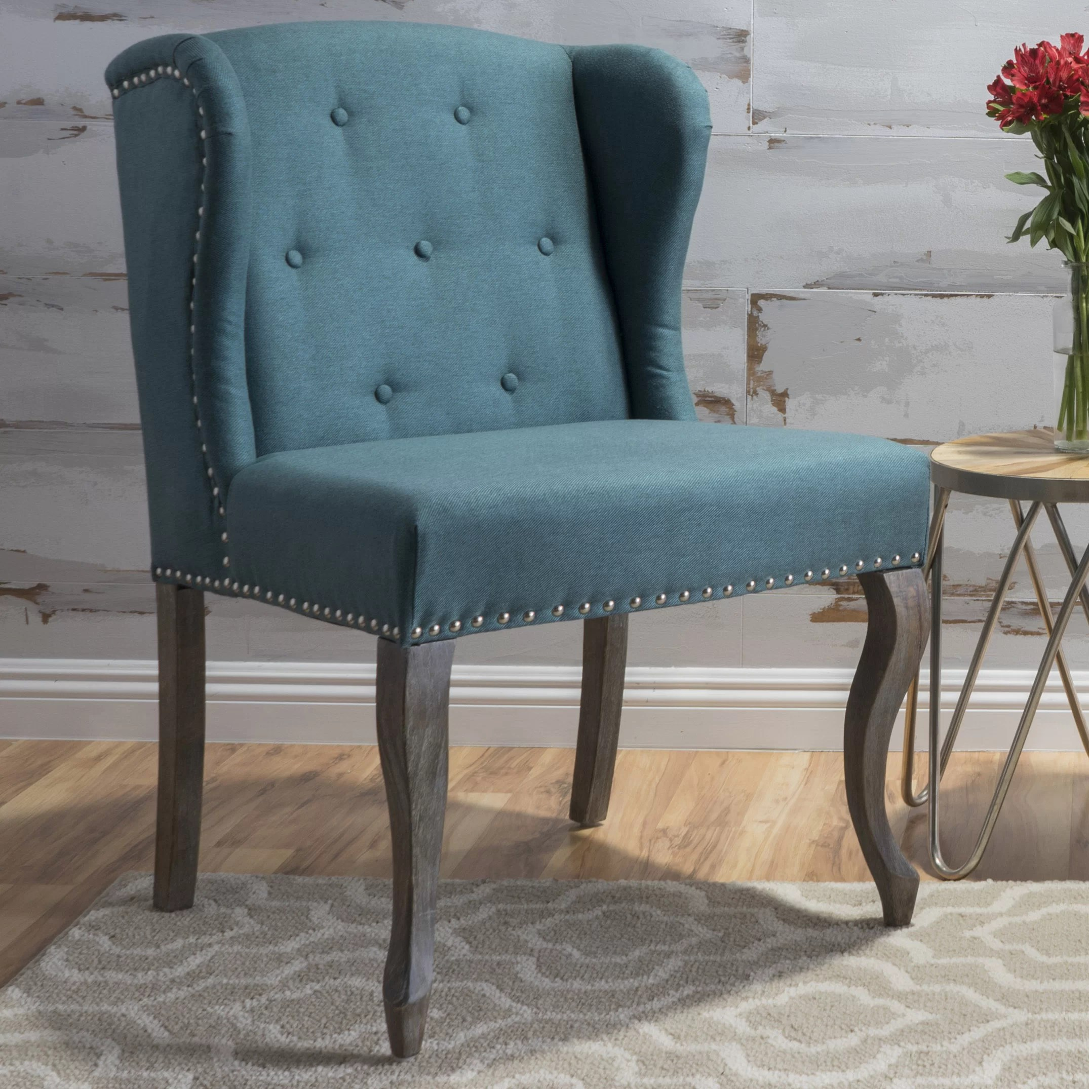 Teal Wingback Chair Soan Wingback Chair