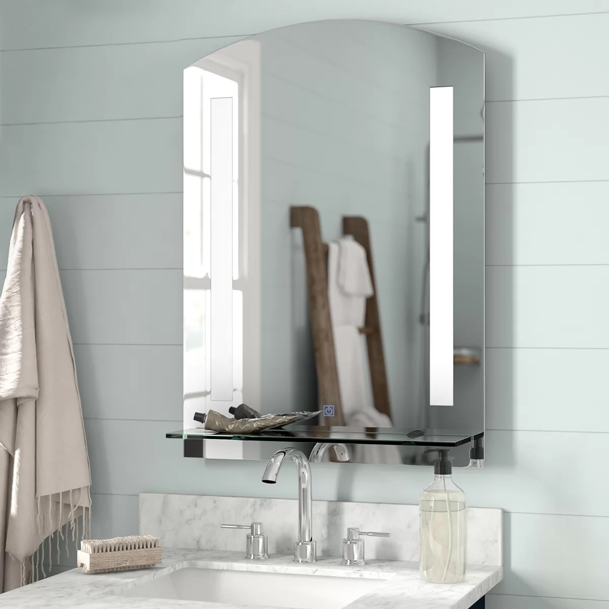 Illuminated Bathroom Mirror Wall Mounted Led Illuminated Bathroom Mirror