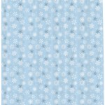 Snowflake Shower Curtain Set Hooks