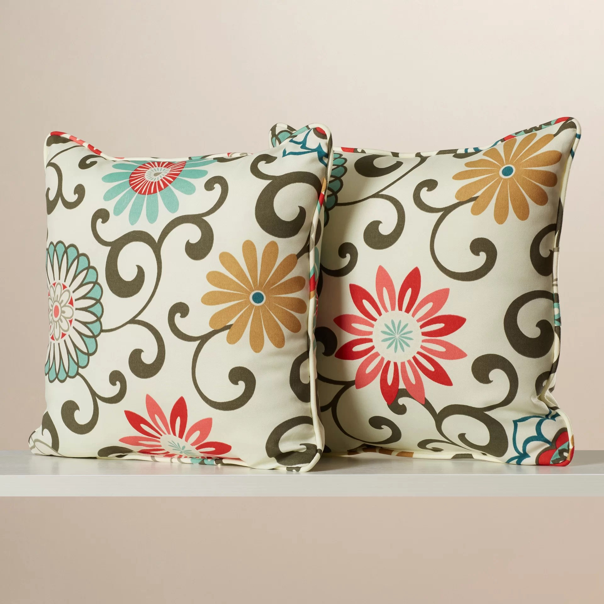 strother floral indoor outdoor throw pillow
