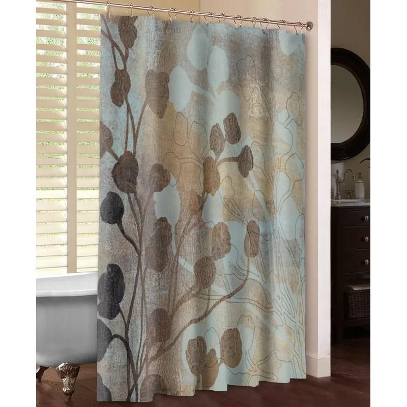 rideau de douche simple bleu et dore spa mountview