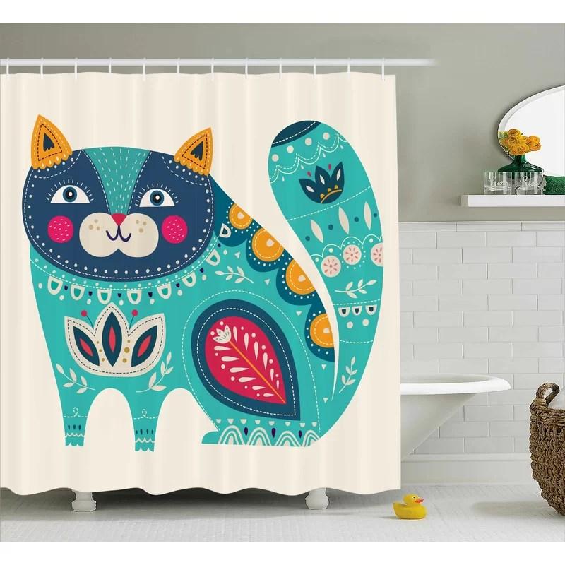 rohan paisley india style cat shower curtain hooks