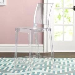Ghost Bar Chair Vintage Knoll Chairs Clear Acrylic Stools Wayfair Darchelle 25 Stool