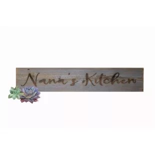 decorative kitchen signs chairs for island wayfair quickview