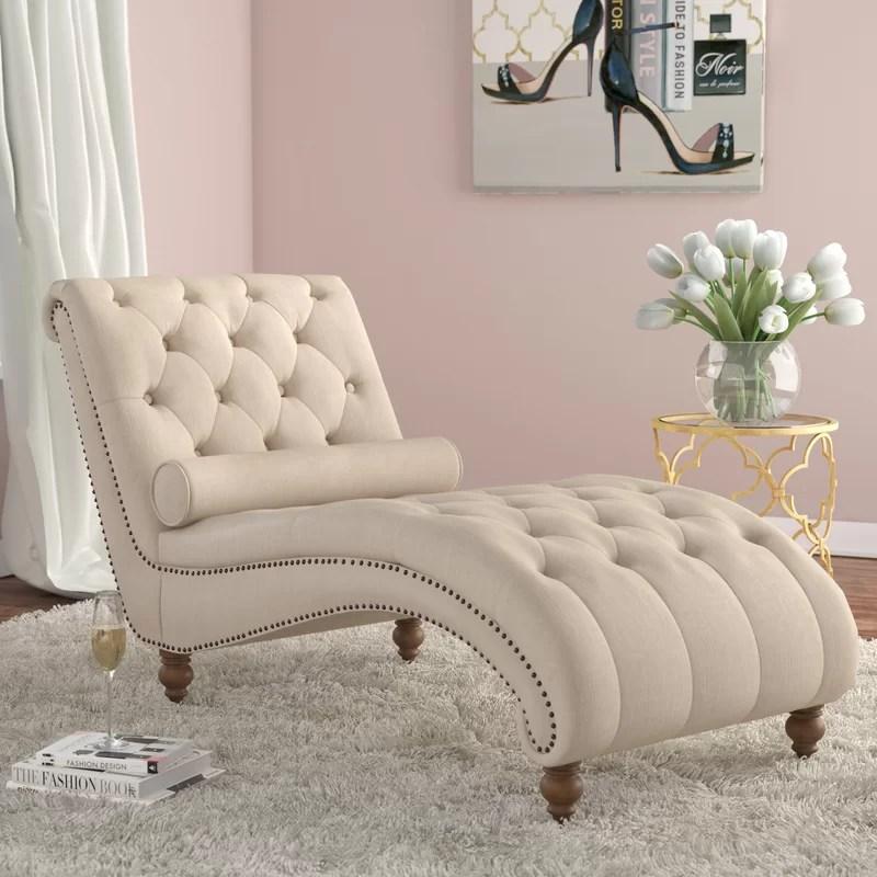 tufted chaise lounge chair cheap wedding covers australia house of hampton yarmouth reviews wayfair