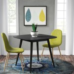 Pekalongan Mid Century Modern Faux Wood Dining Table