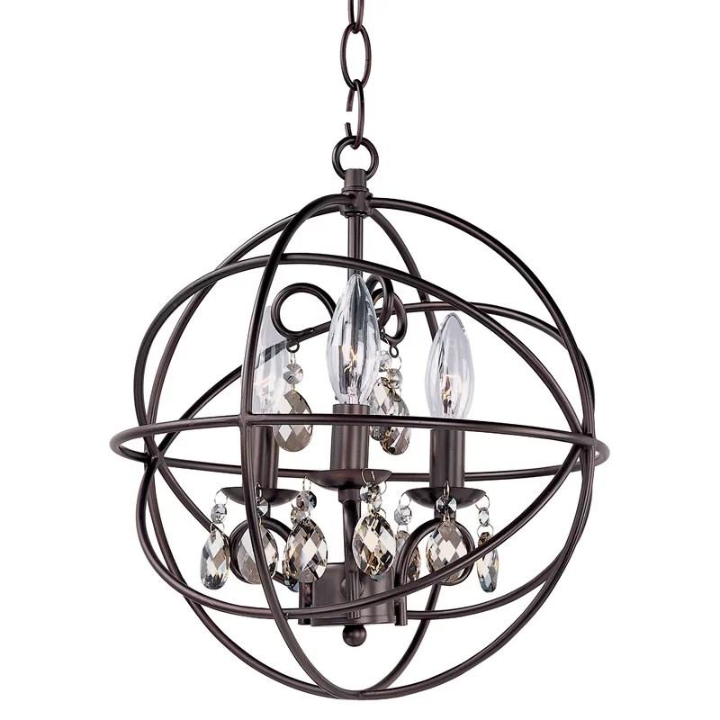 Alden 3 - Light Unique / Statement Globe Pendant