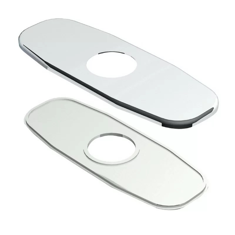4 Accessories Centerset Cover Plate Finish: Chrome