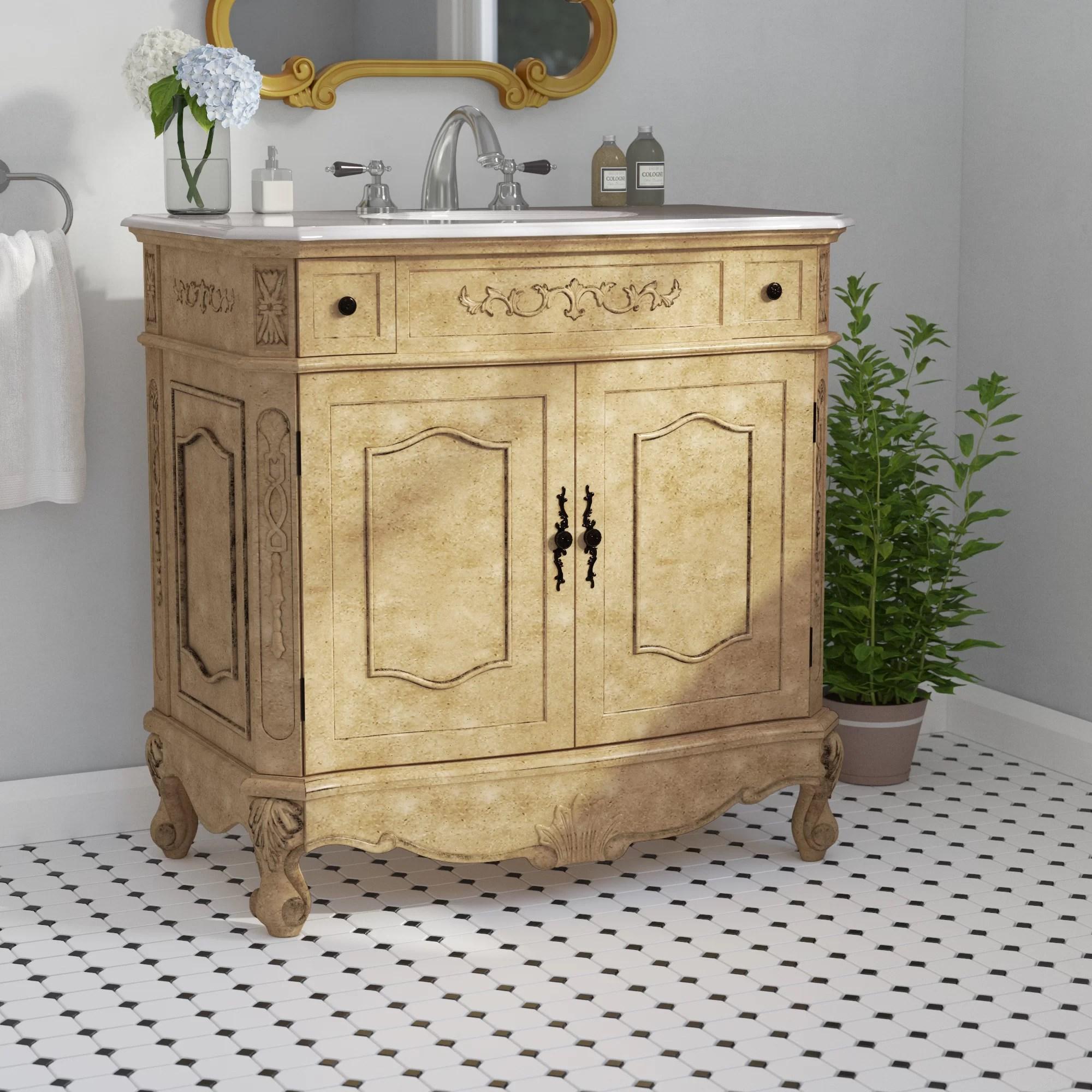Alcott Hill Anzavia 36 Single Bathroom Vanity Set Reviews Wayfair