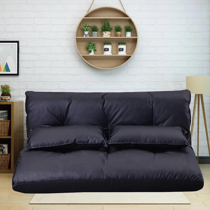 eilisha tufted faux leather armless reclining chaise lounge