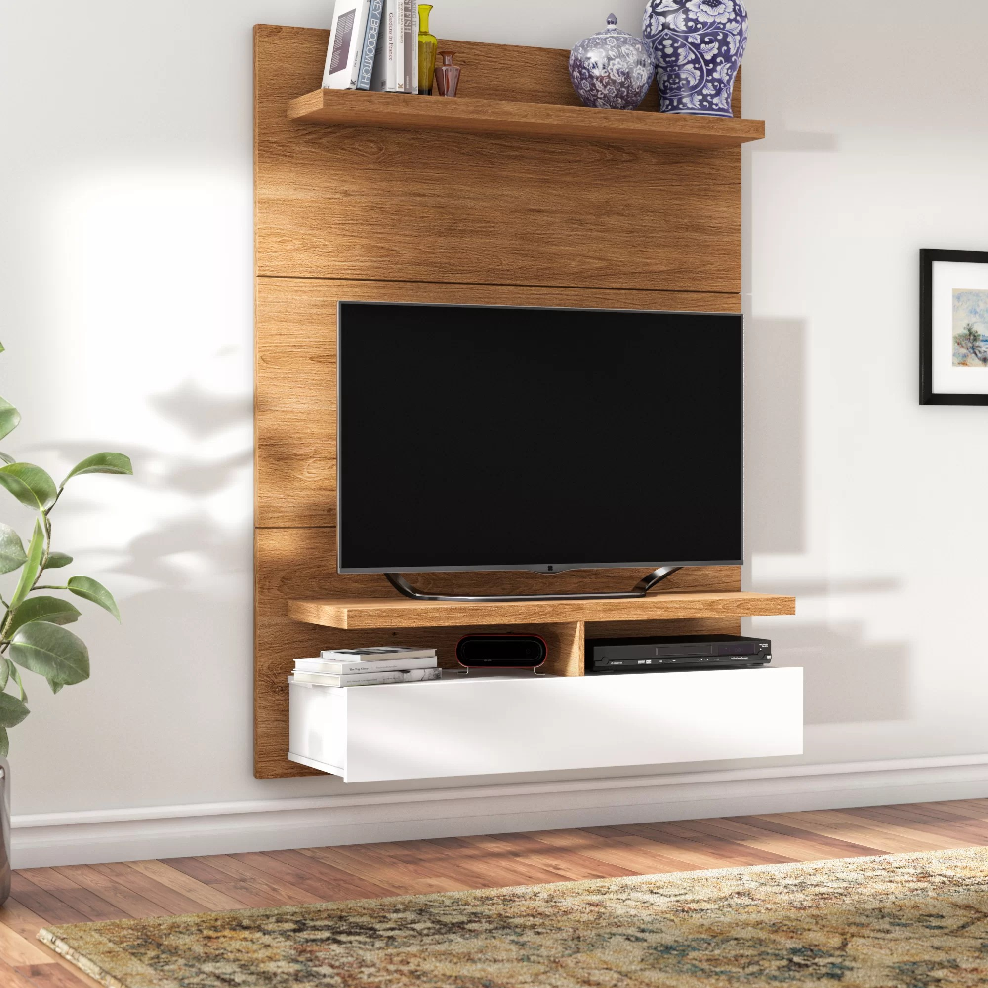 meuble audio video flottant pour televiseur de 42 po ou moins boone