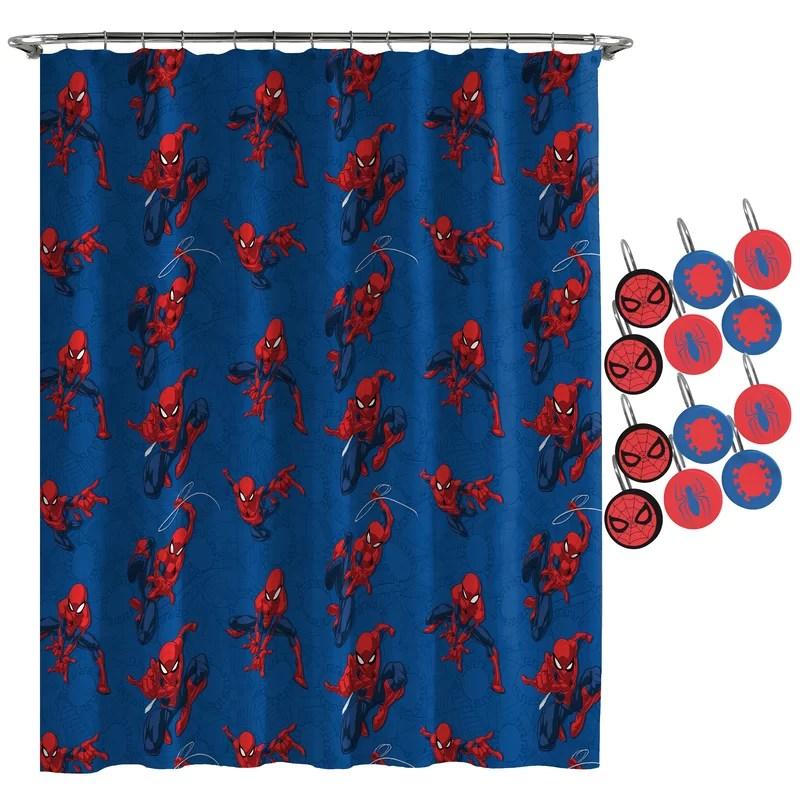 spiderman spidey crawl shower curtain