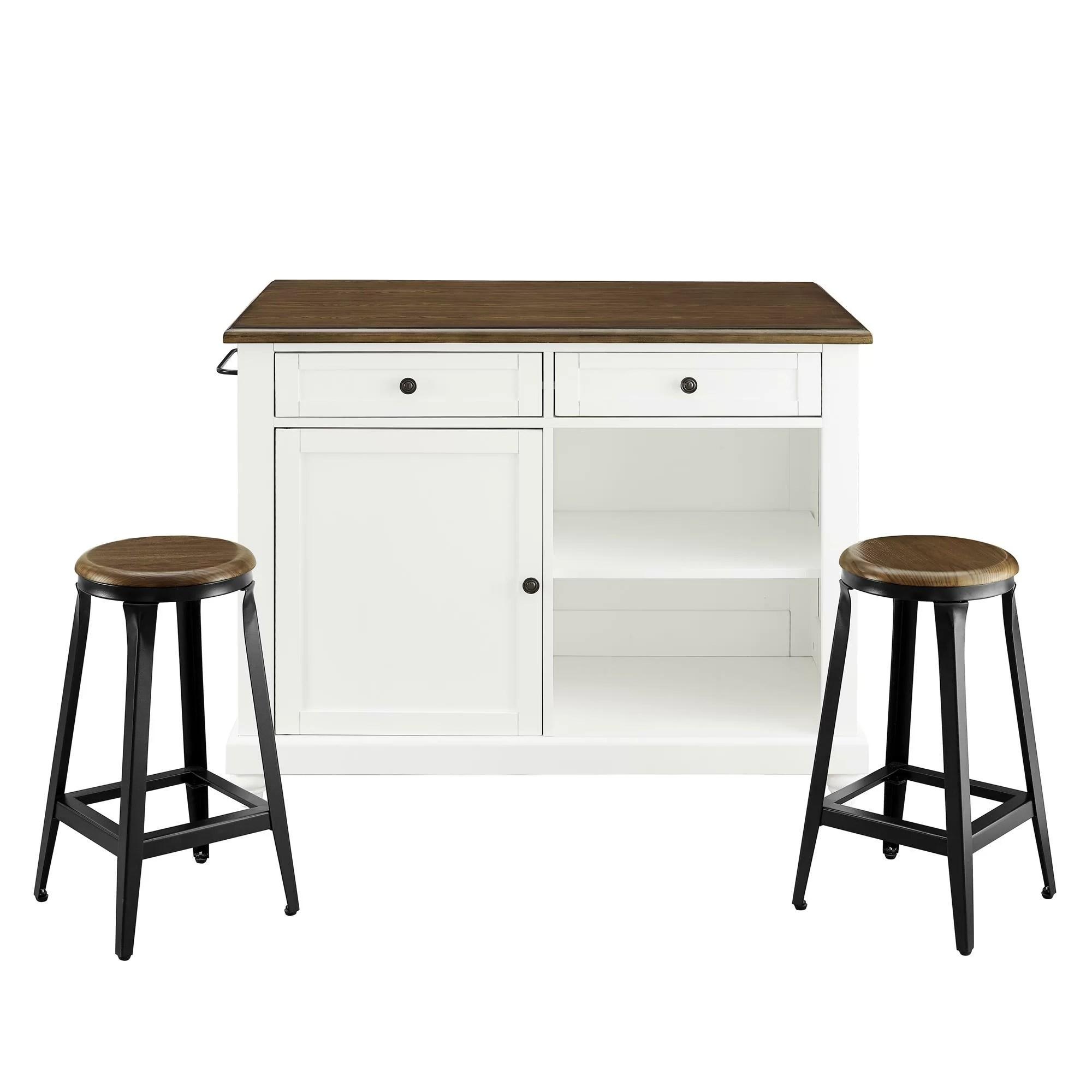 kitchen island set green accessories gilchrist reviews allmodern