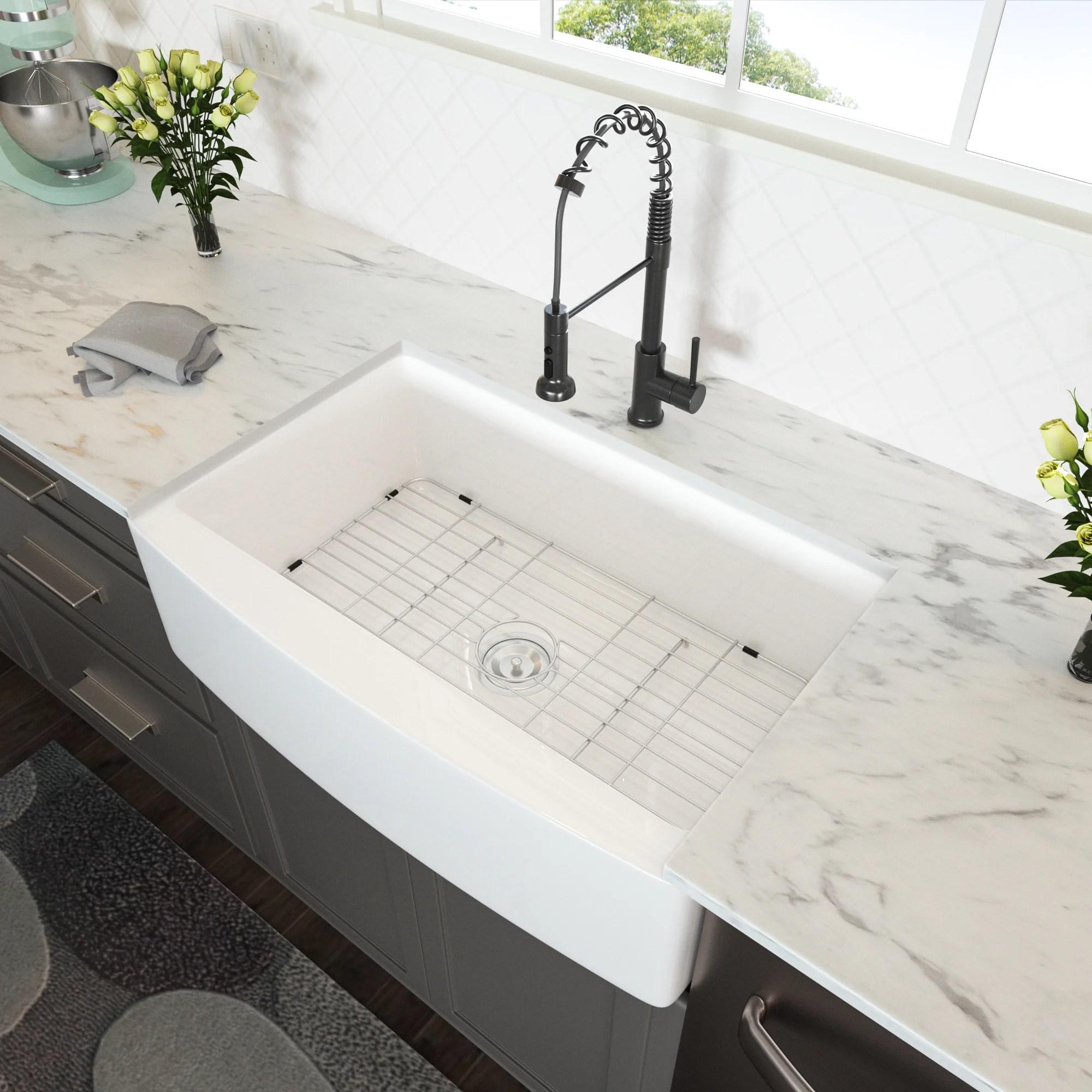farmhouse sink white 24 inch apron front kitchen sink fireclay ceramic porcelain single bowl kitchen farm sinks